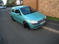 Vauxhall Corsa 1.2 16v h/b,2003,45 mpg,taxed,long mot,s/h,pas,r/c/l,ew,remote cd/i pod/usb,alloys