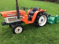 Kubota B1600 2WD Compact Tractor with New 4ft Flail Mower