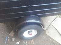 A camping or diy trailer 4feet x 3feet 2feet high good tyres