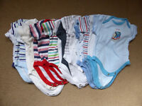 Bundle of 19 First Size and 0-3 Months Babygrows
