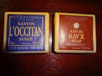 2 bars of L'Occitane soap for men (Brand new in packaging)