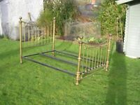 Brass and Iron Double Bed Victorian Style