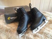 Graf Jackson sz1 mark II Excel unisex black ice skates