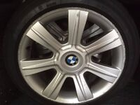 17 inch BMW alloy wheels with winter tyres