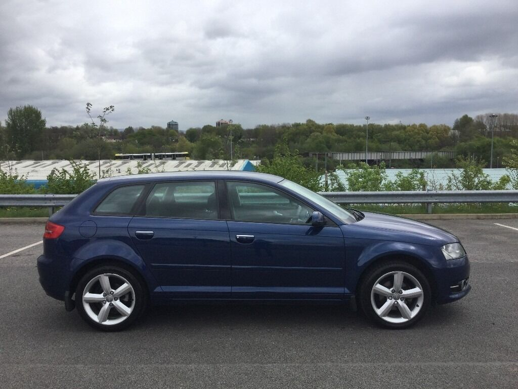 2010 audi a3 1 6 blue sportback 5 door in manchester. Black Bedroom Furniture Sets. Home Design Ideas