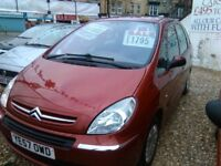 CITREON PICASSO 1.6 PETROL 07 PLATE;F/S/H FULL MOT 1 OWNER 70,000 MILES 7 SEATER!!!