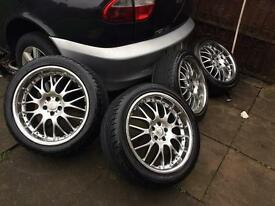 18inc DEEP dish alloys with tyres in good condition
