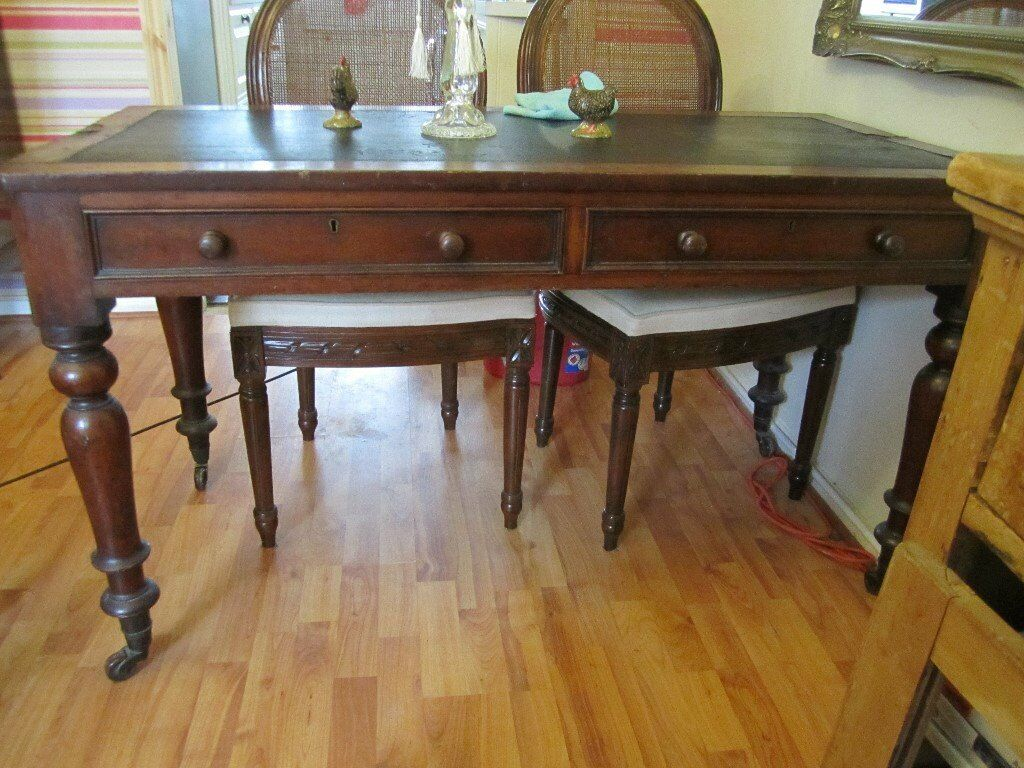 Antique Mahogany Library Table/Desk