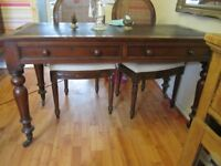 Antique Mahogany Library Table/Desk