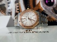 TwoTone Audemars Piguet with White Face Comes AP Boxed With Paperwork