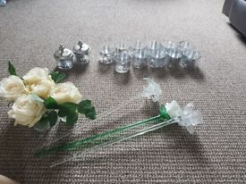 Wedding decorations artificial flowers job lot