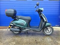 2017 SINNIS ENCANTO 50CC RETRO SCOOTER MOPED , HPI CLEAR , VERY LOW MILES