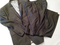 Pewter-coloured Fellini man's 2-piece suit. Immaculate condition.
