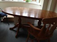 Extending pine table