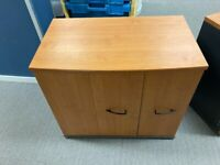 Neoteric 3-drawer, 2-tier yew wood office credenza £95 each 2 available
