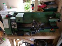 Warco Model 220 metal working lathe with loads of spares.....
