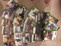 X box 360 with bundle of games