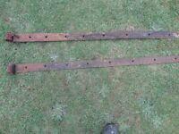 Vintage driveway farm gate strap hinges