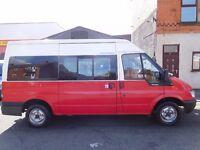NO VAT Ford Transit MWB 14 seater Minibus 04 plate MOT'd electric windows/mirrors (47)