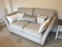 2 x 2 seater sofas oak furniture land grosvenor beige/natural colour brand new!