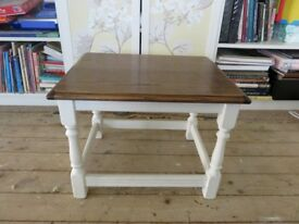 Solid Oak and cream coffee table