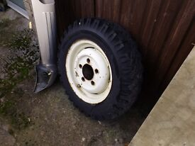Two land rover wheels/tyres