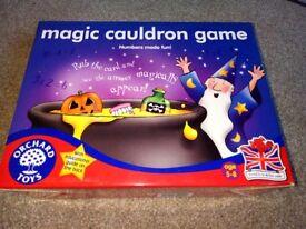 Magic cauldron educational (maths) board game