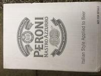 Peroni pint glasses