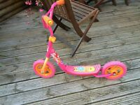 "Girls ""Barbie"" Pink Two Wheeled Scooter"