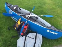 Sevylor kayak - 2 man - paddles - bouncy aids - used 5times