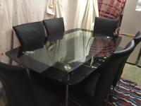 Large table with 6 chairs