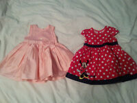 2x Baby Girl Dresses for sale - 6-9 months