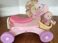 Fisher Price pony ride on & doll