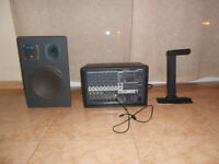 Sound Amplifier and mixer system, 8 M/phone output sockets