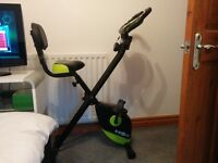 Klar Fit Foldable Exercise Bike (Green & Black)