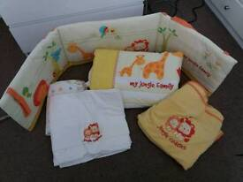 Cot bed bedding- Mothercare Jungle Cuddles