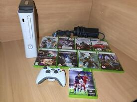 Xbox 360 Bundle With 9X games including FIFA 16