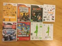 Nintendo Wii console with Balance Board and games