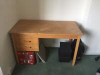 Wood split-top drafting desk
