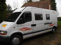 Renault Master three birth camper van