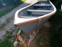 15 ft Falmouth bass boat 4hp Yamaha outboard and trailer