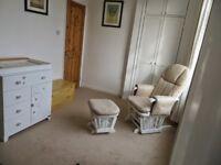Tutti Bambini Deluxe Glider Nursing Chair & Stool