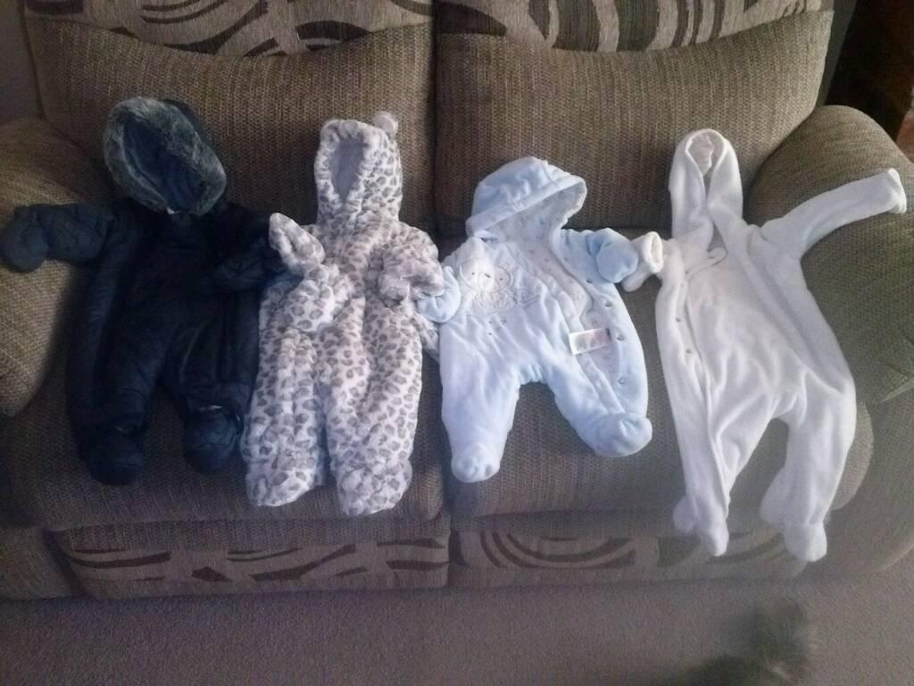 Baby snowsuit bundle