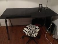 URGENT Frosted Black Glass Desk for sale!