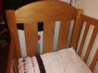 King Parrot Adjustable Cot Bed & Mattress £50