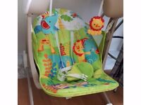 Fisher Price Rainforest Friends Take-Along Swing & Seat - clean, and used very little