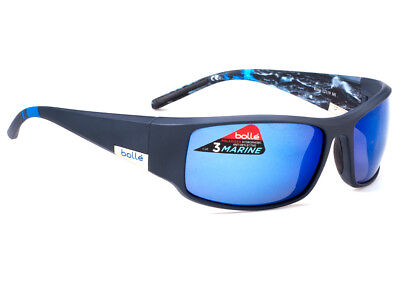 Bolle King Sunglasses - 12119 - Matte Blue Sea w/ Polarized Offshore Blue (Bolle Sunglasses Lenses)