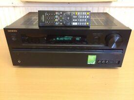 Onkyo TX-NR626 Bluetooth, Wi-Fi, USB, Network, Spotify 7.2 Home Cinema Receiver, Crisp Clear Sound.