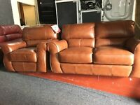 New/Ex Display ScS Elbridge Leather 2 Seater Sofa + 1 Seater Sofa