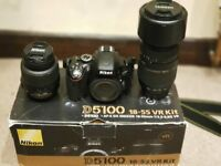 Nikon D5100 Like Brand New with a lots of extras